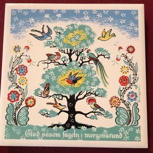 """🇺🇸 Berggren Birds in Tree """"Home is Best """" Tile"""